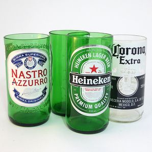 Glasses made from beer bottles