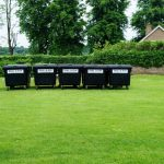 Wheelie Bins in Field